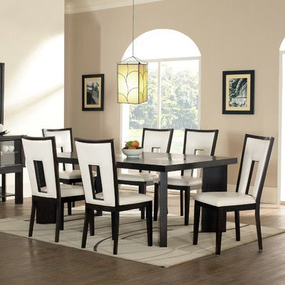 You Ll Love The Hillcrest 7 Piece Dining Set At Wayfair Great Deals Contemporary Dining Room Tables Modern Dining Room Set Contemporary Dining Room Furniture
