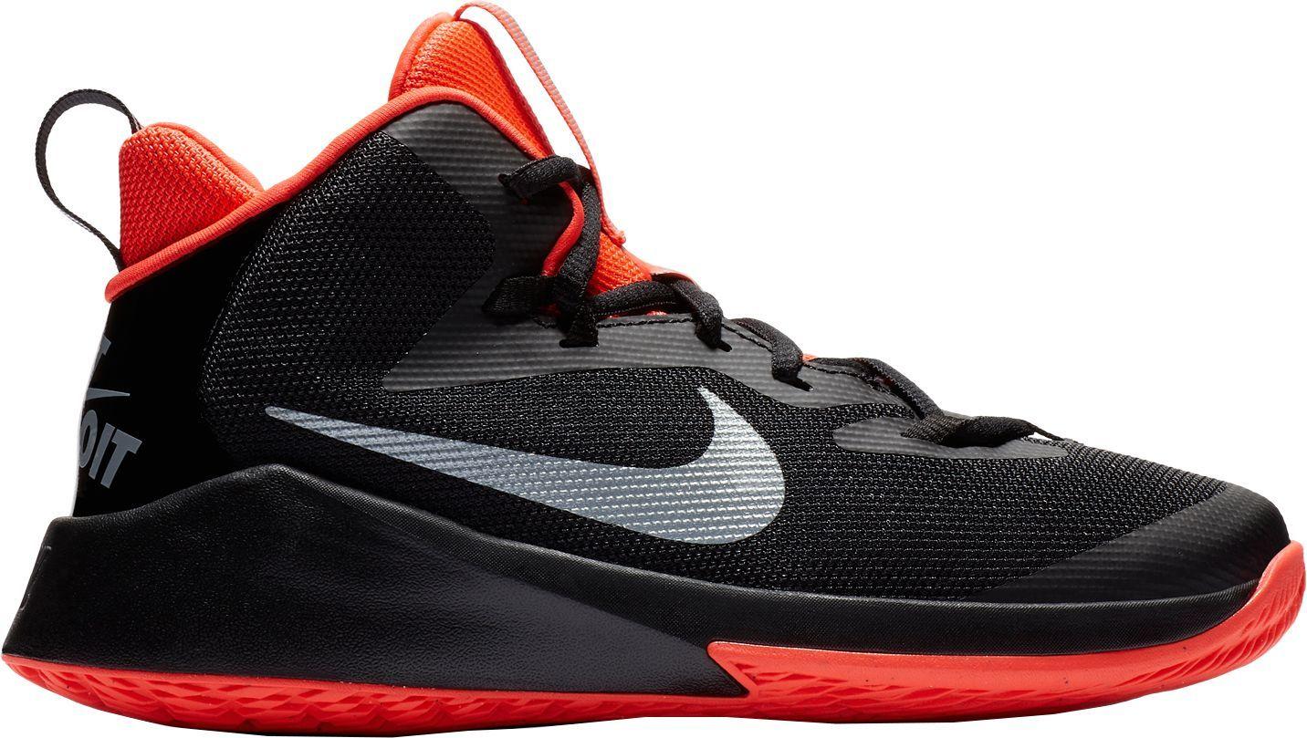 d96ac66ce6 Nike Kids' Grade School Future Court JDI Basketball Shoes, Size: 4.5, Black