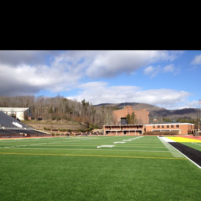 On the football field at Appalachian State Football