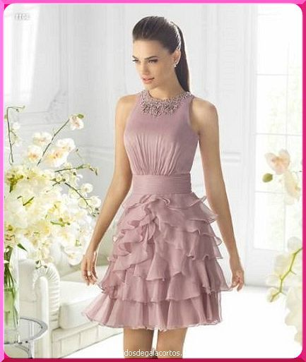 Vestidos de novia civil de color rosa