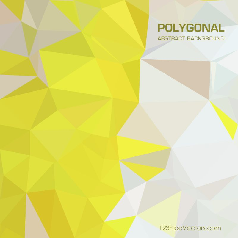 Yellow Green Abstract Polygonal Pattern Background Illustrator