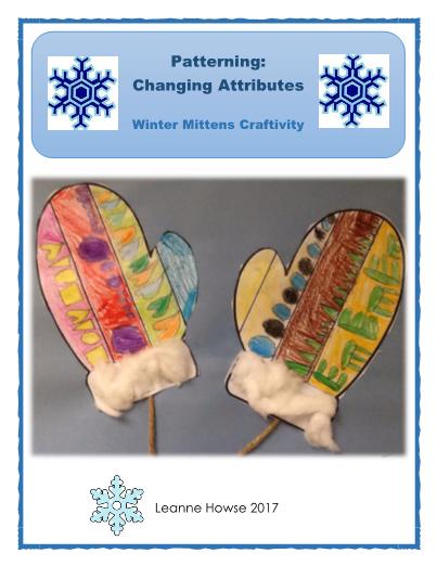 Patterning:  Changing Attributes Mitten Craftivity #editableprintables #freeprintables