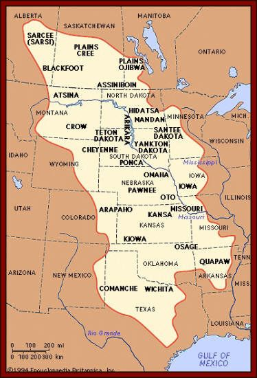 Missouri Indian Tribe Map : missouri, indian, tribe, American, Indian