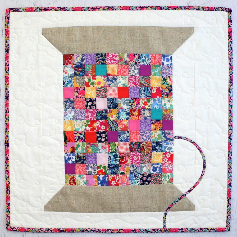 Liberty Vintage Cotton Reel Mini Quilt PDF Pattern | Nähen