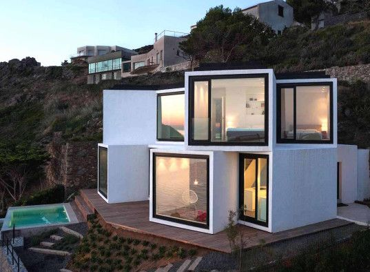 Sunflower House S Quirky Cube Cluster Soaks Up The Mediterranean
