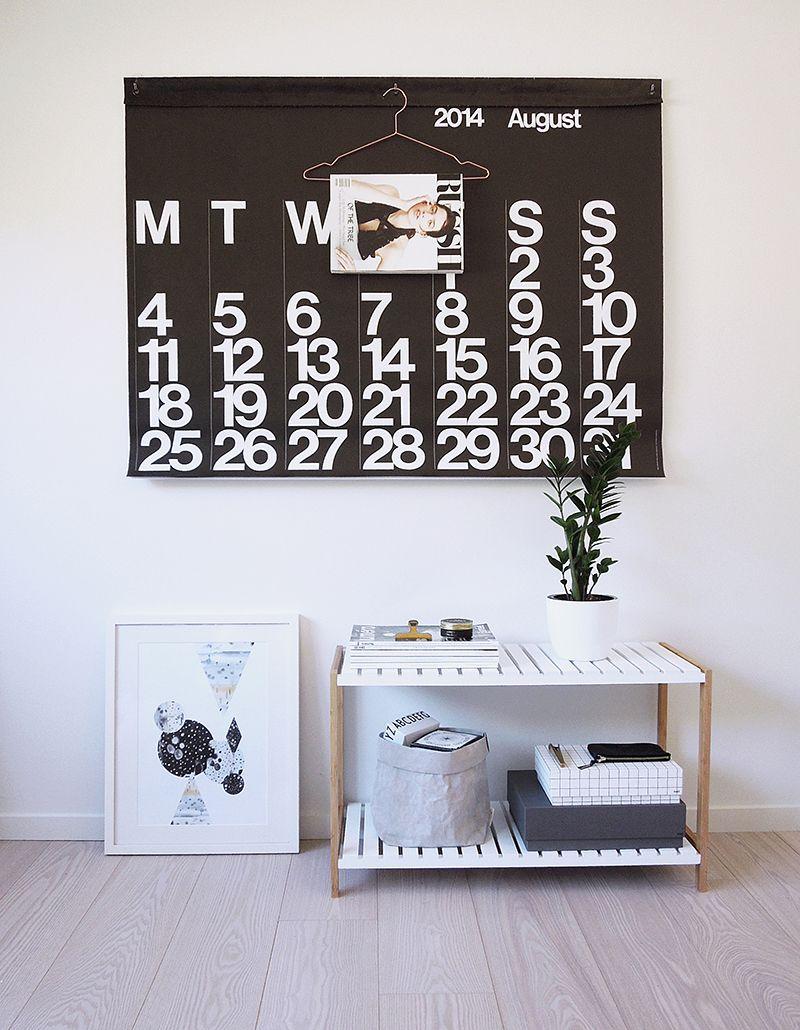 Wohnideen Großer Flur großer kalender für den flur mocka jimmy stand two ways