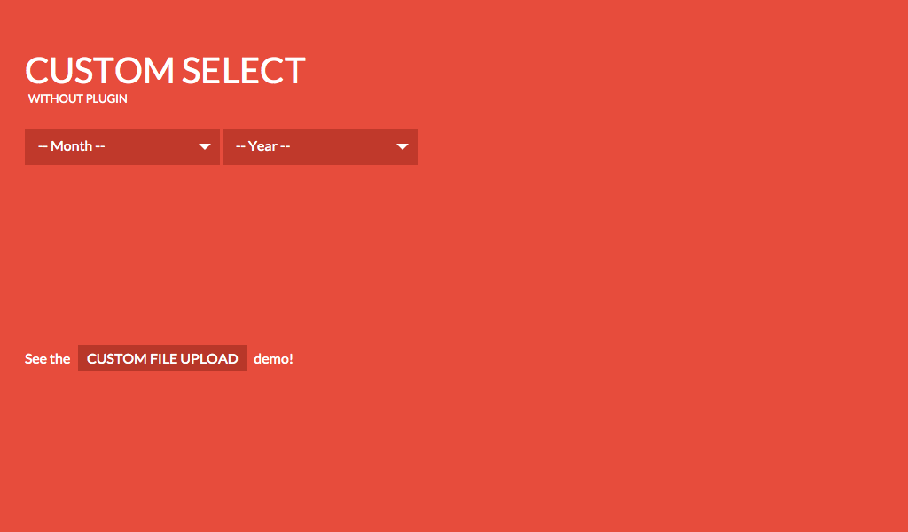 A custom select menu with jQuery and CSS     | Code Pen