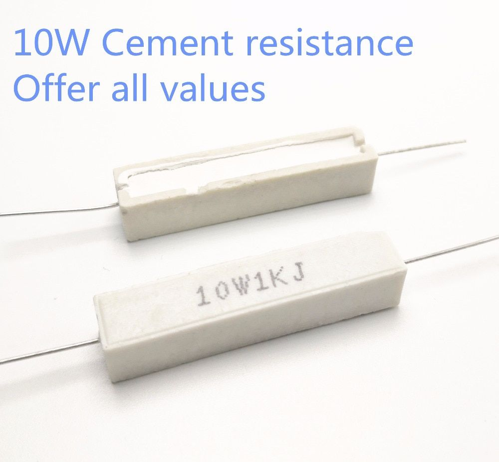 Universe Of Goods Buy 5pcs 10w 1 5 1 8 2 2 2 2 4 2 7 3 3 3 Ohm 1 5r 1 8r 2r 2 2r 2 4r 2 7r 3r 3 3r Ceramic Cement Power Resistance Resi Resistors Ohms Power