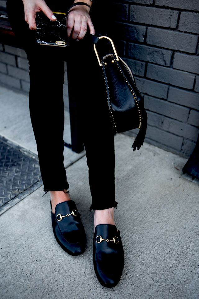 gucci princetown flats black leather nordstrom sale