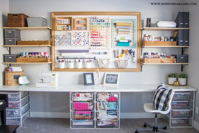 40 Bastelraum-Gestaltungsideen für mehr Organisation und Kreativität