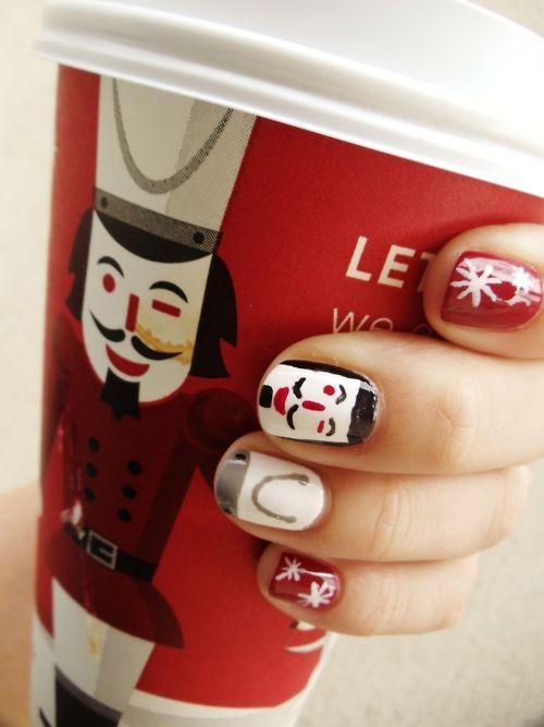 Starbucks Nutcracker Nail Art Christmas Navidad Estaciones