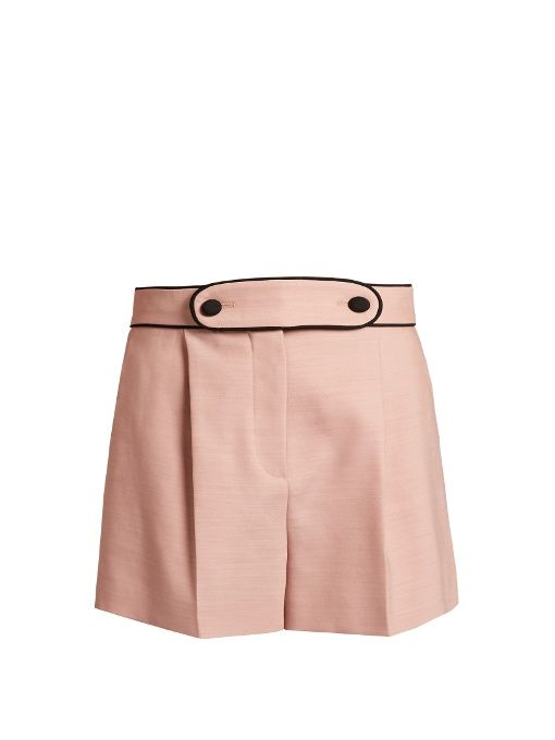 Valentino High-waist tailored stretch-wool shorts
