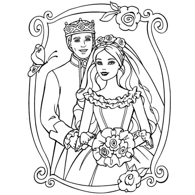 barbie top coloriage mariage pinterest barbie