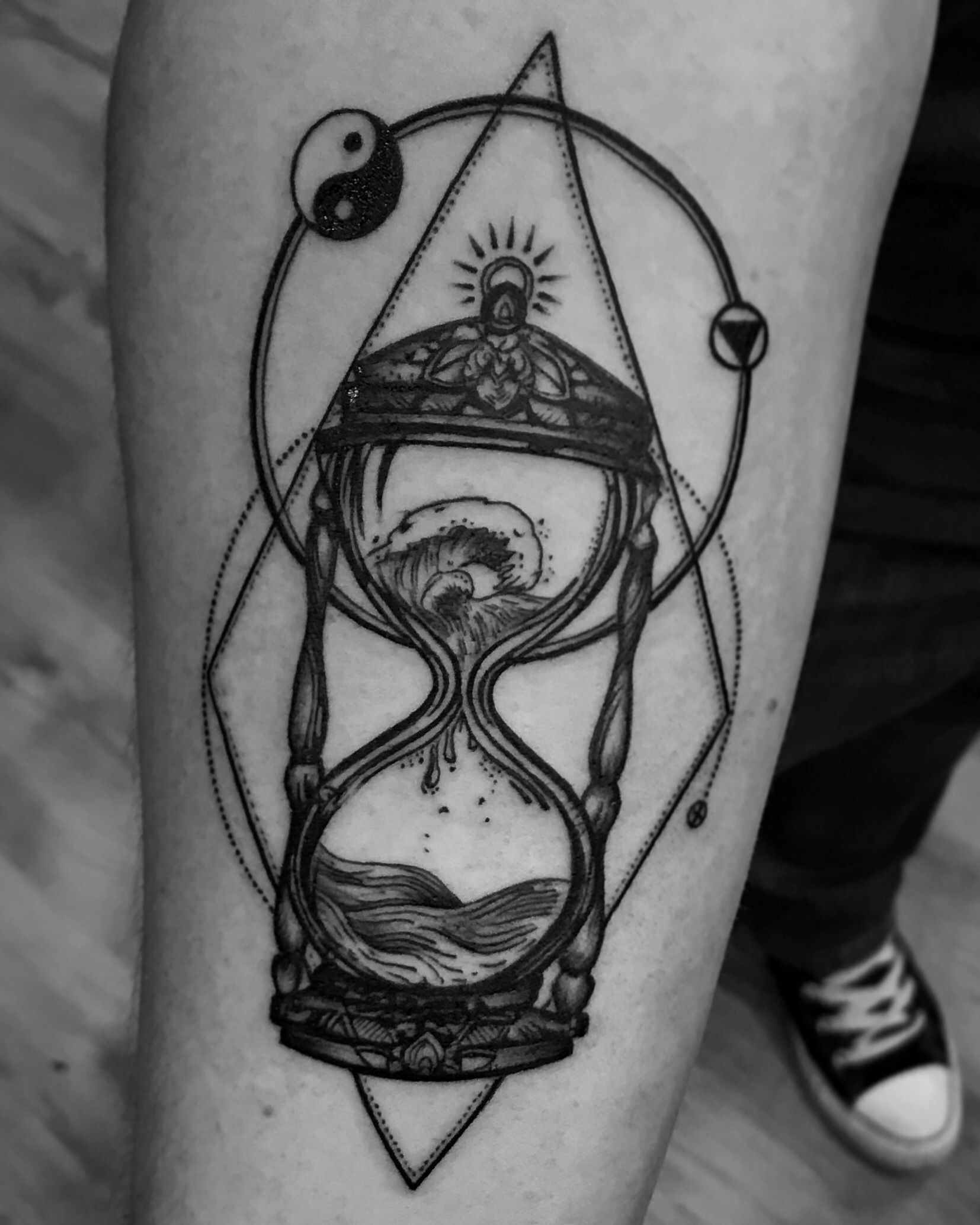 Hourglass Tattoo With Water To Symbolize My Scorpio Element