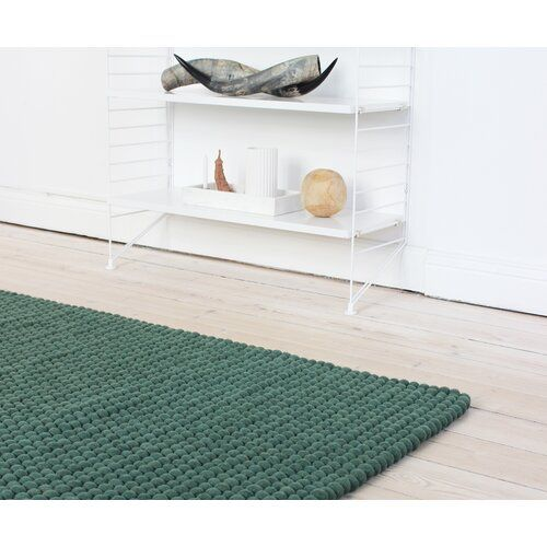 Gaiser Hand Knotted Wool Green Rug Bloomsbury Market Rug Size Rectangle 100 X 150cm Machine Made Rugs High Pile Rug Rugs