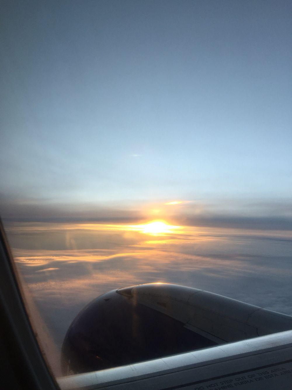 Sunset over Williams and Washington