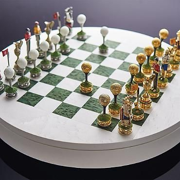Golf Chess Set By Agresti Frontgate Chess Set Chess Board Chess Pieces Each player begins with a total of sixteen pieces. golf chess set by agresti frontgate