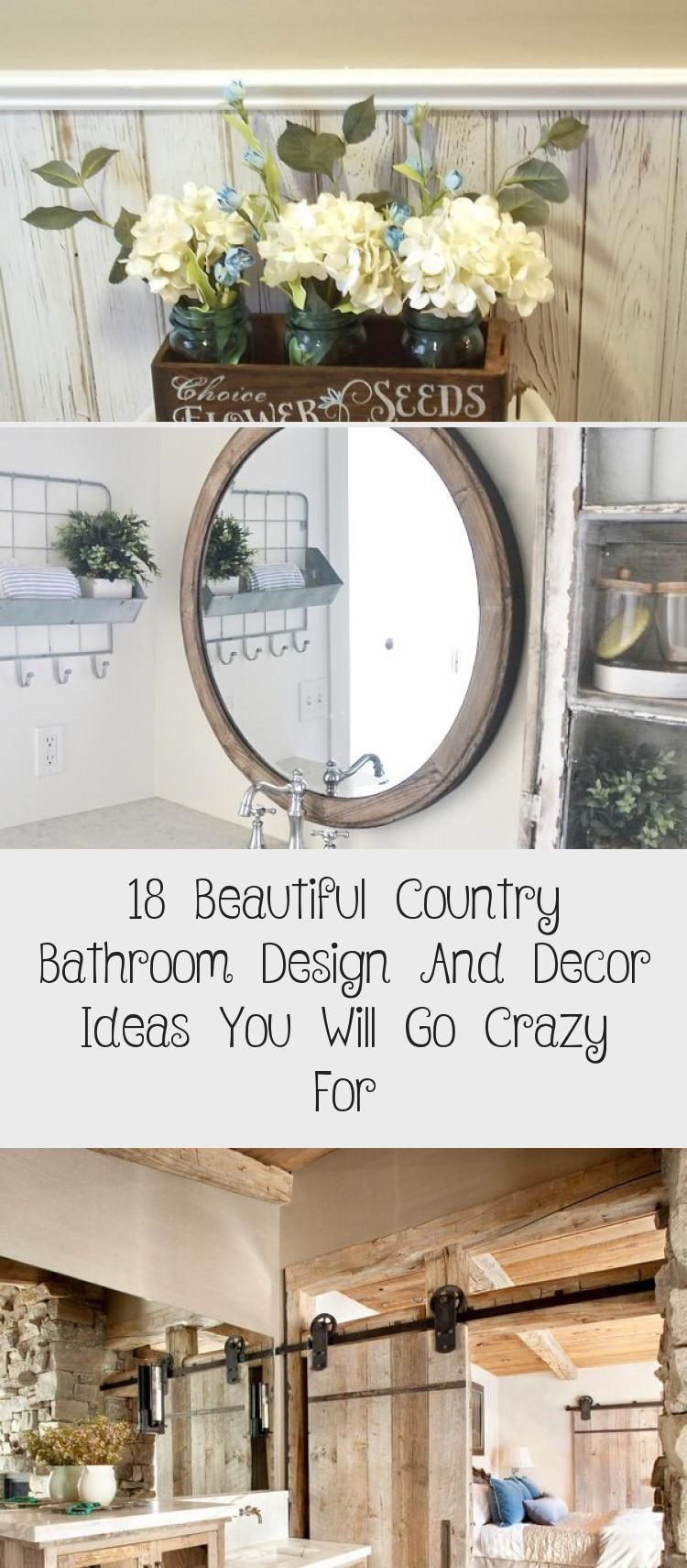 Photo of 18 Beautiful Country Bathroom Design and Decor Ideas You Will Go Crazy For – The…