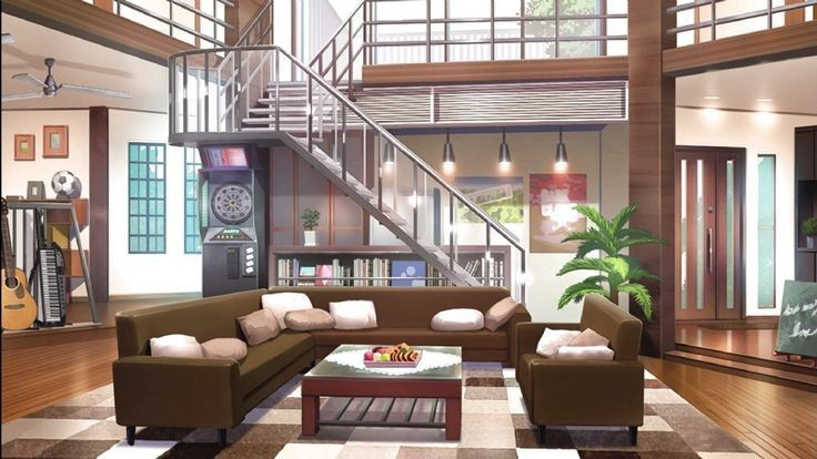 Pin By Sarai On Art Anime Backgrounds Wallpapers Anime Places Anime Scenery Living room anime apartment background
