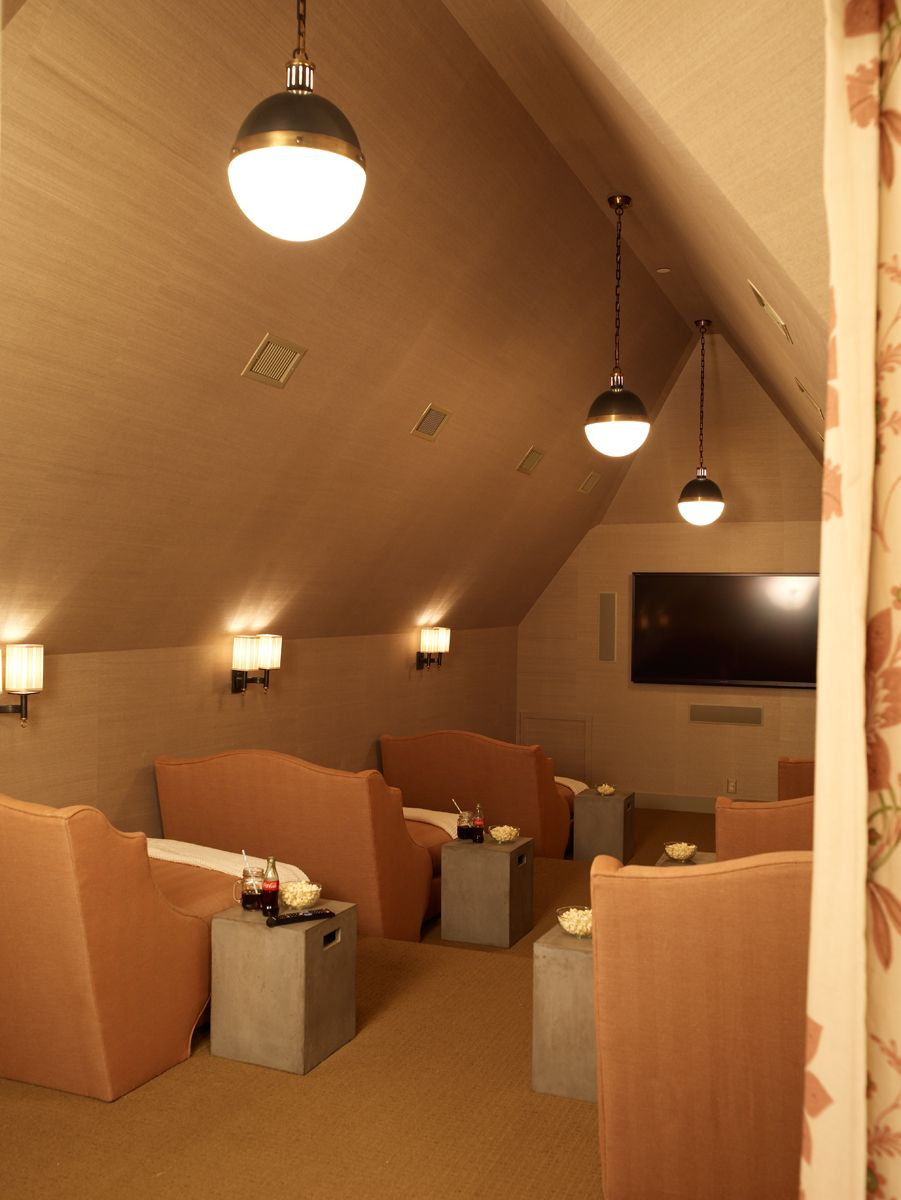 Small Home Theater Room Design: Coastal Living Ultimate Beach House, 2012