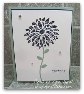 Stampin'Up! Simple Card using the Special Reason stamp set and Stylish Stems Framelits Dies and the Floral Boutique dsp http://www.starzlstamps.com/2017/02/special-reason-stamp-set-stylish-stems-framelits-dies-bundle.html