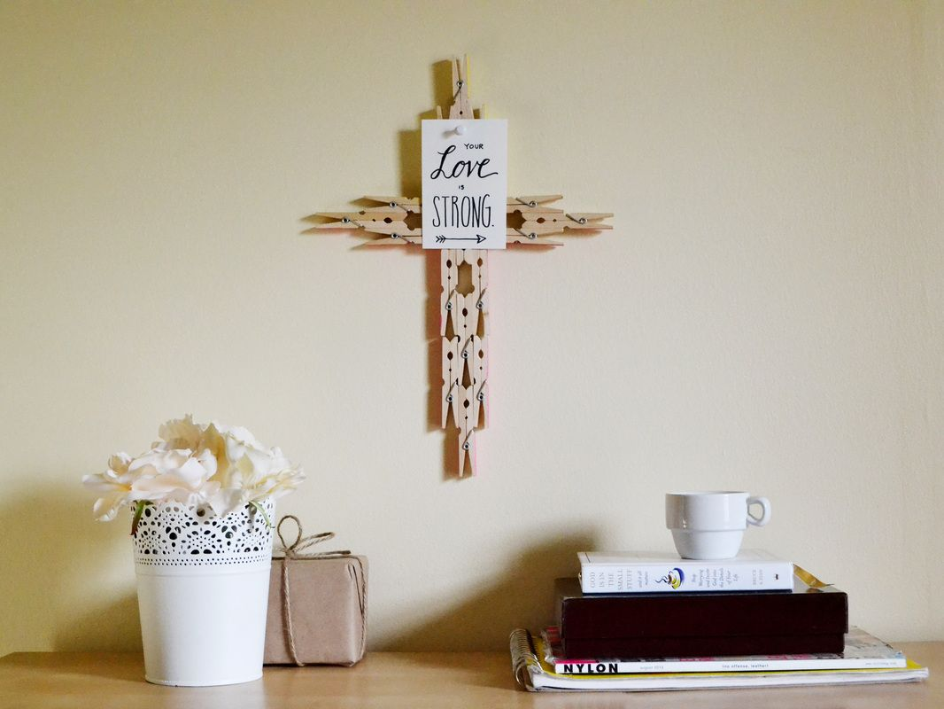 Clothes pin cross m a k e pinterest chemistry craft and crazy diy projects to reuse clothespins worth trying diy projects amipublicfo Gallery