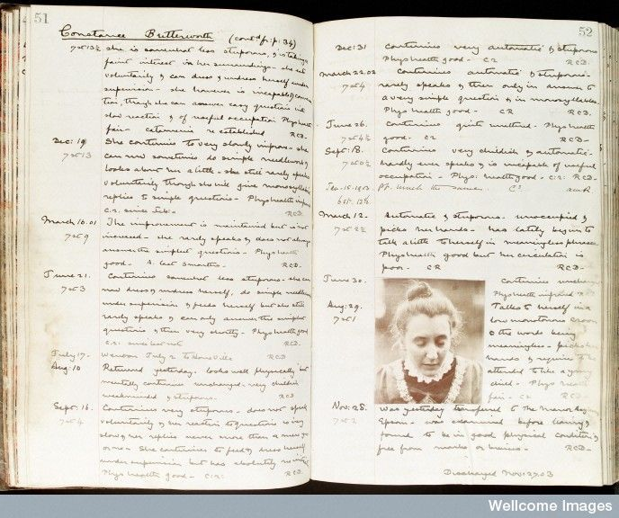Case History of Constance Butterworth, a patient of Holloway Sanatorium 1900-1