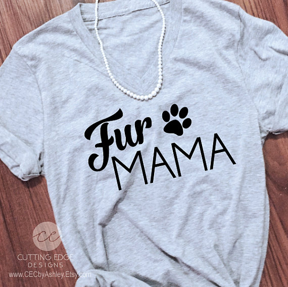 dog mom shirt loose v-neck Funny shirt S-2XL by CEdesignsByAshley