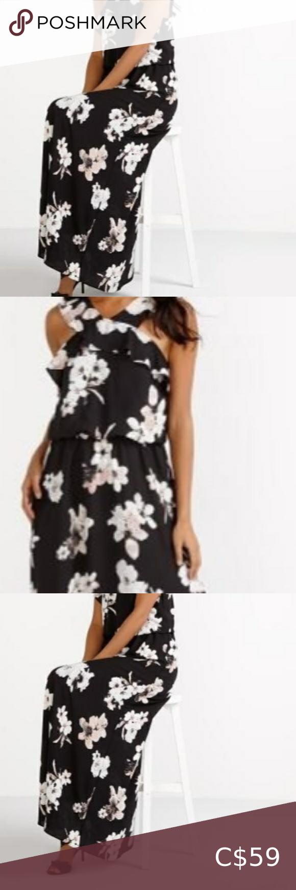 2 60 Reitman S 10 Black Flower Dress Nwt Black Flower Dress Reitmans Dresses Floral Print Maxi Dress [ 1740 x 580 Pixel ]