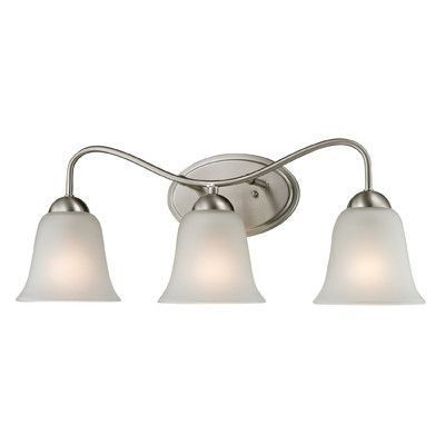 Cornerstone Lighting Conway 3 Light Vanity Light Finish/Glass Color:  Brushed Nickel/White