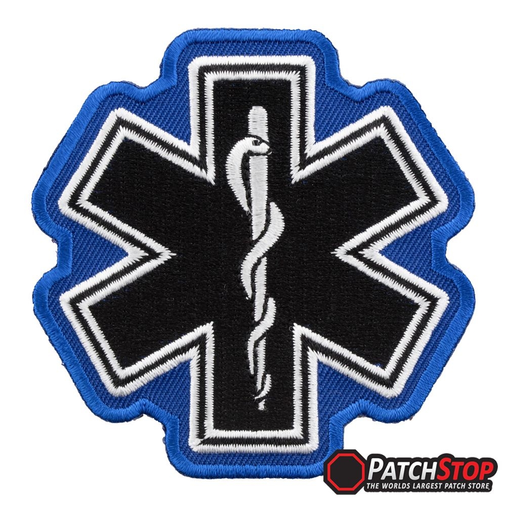 Ambulance EMT Patch Embroidered  EMS FIRE POLICE 3/""