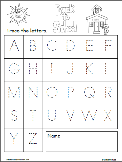 Uppercase Letter Tracing - Back To School #JustHandwriting! Alphabet  Tracing Worksheets, Letter Tracing Worksheets, Tracing Worksheets Preschool