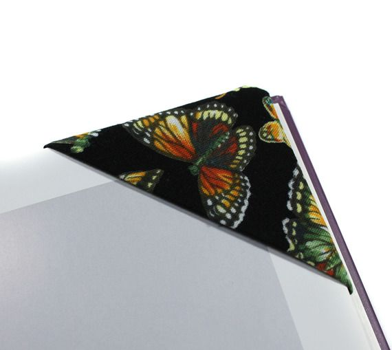 marque-pages en tissu modèle papillon, marque page angle, marque pages coin | Etsy, Tissu et ...