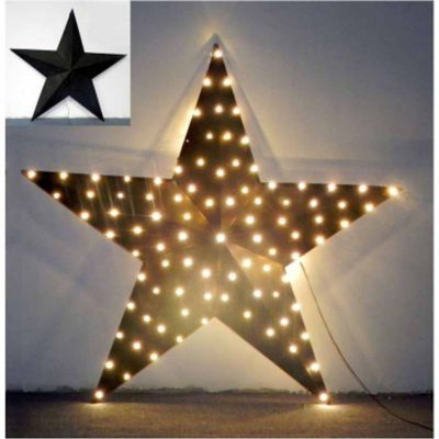 Red Shed 76 LED Star Decoration, 36 in, Black (Tractor Supply