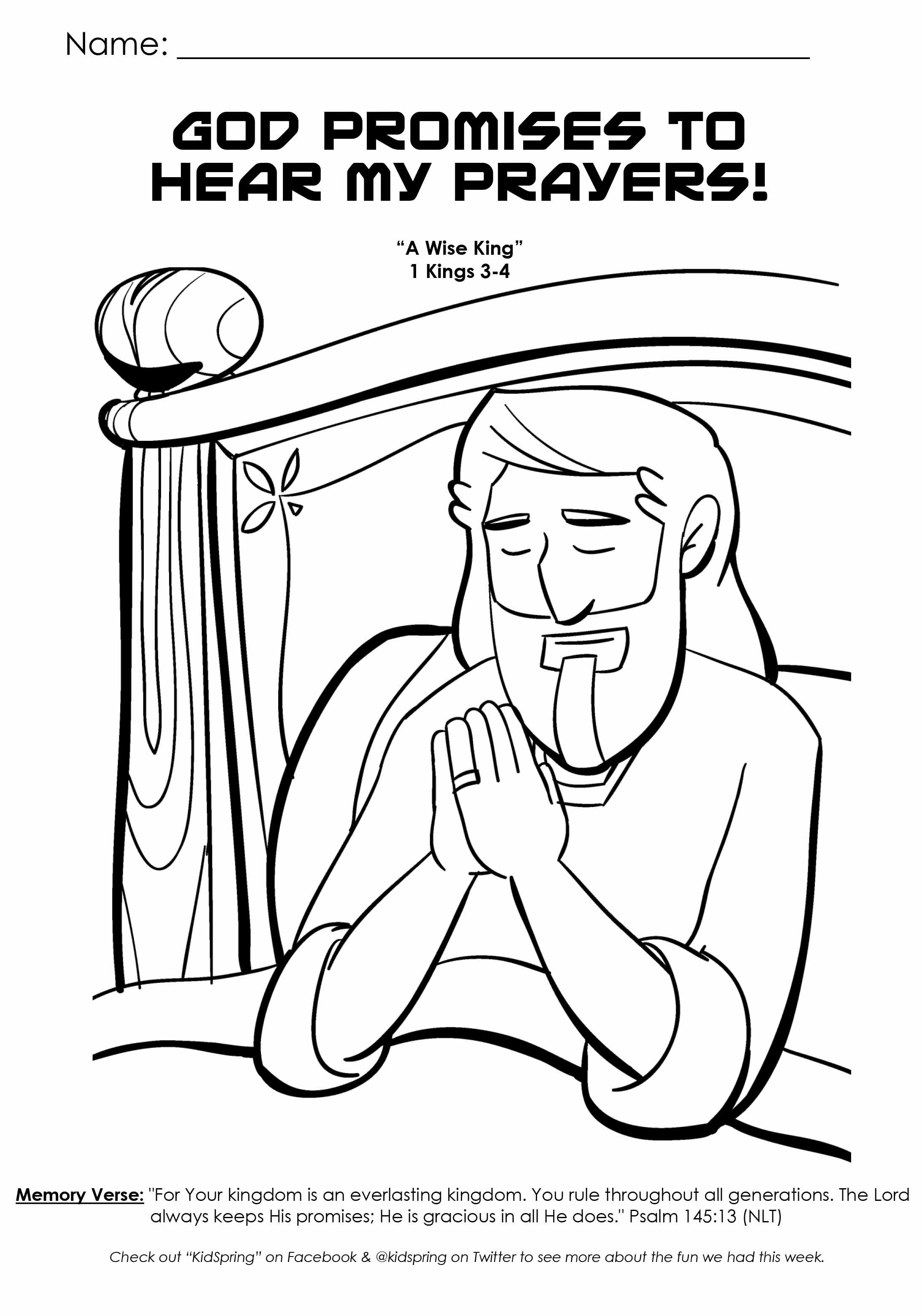 Free coloring pages of god hears our prayers news to gow pinterest