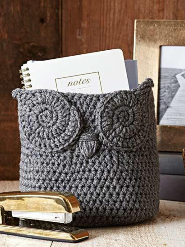Photo of Crochet Owl Basket Kostenloses Muster #crochet Crochet Owl Basket Kostenloses Muster …
