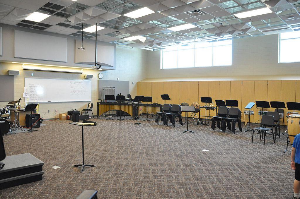 westminster high school band room choir room band rooms rh pinterest com