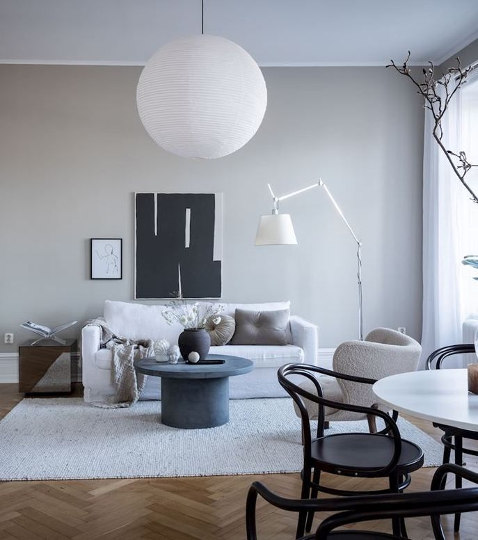 Photo of Cozy living room with greige walls – COCO LAPINE DESIGN
