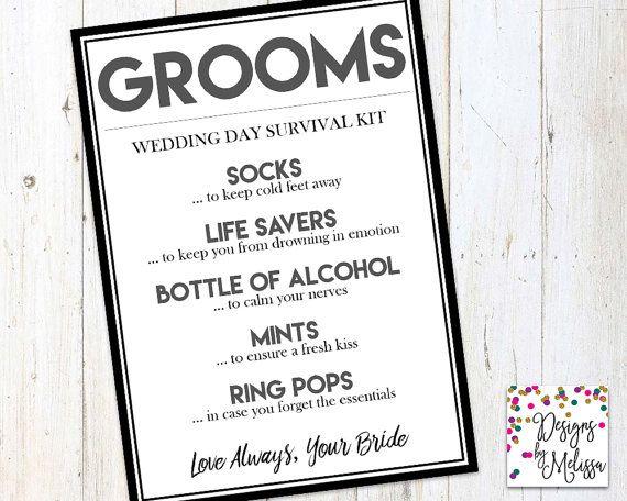 groom s wedding day survival kit groom gift from bride groom