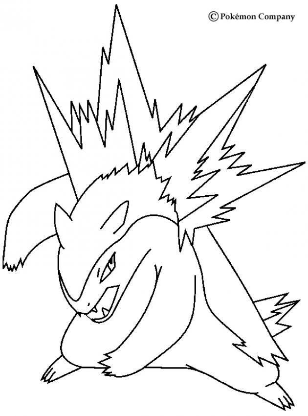 Typhlosion Pokemon Coloring Page. More Fire Pokemon Coloring Sheets On  Hellokids.com