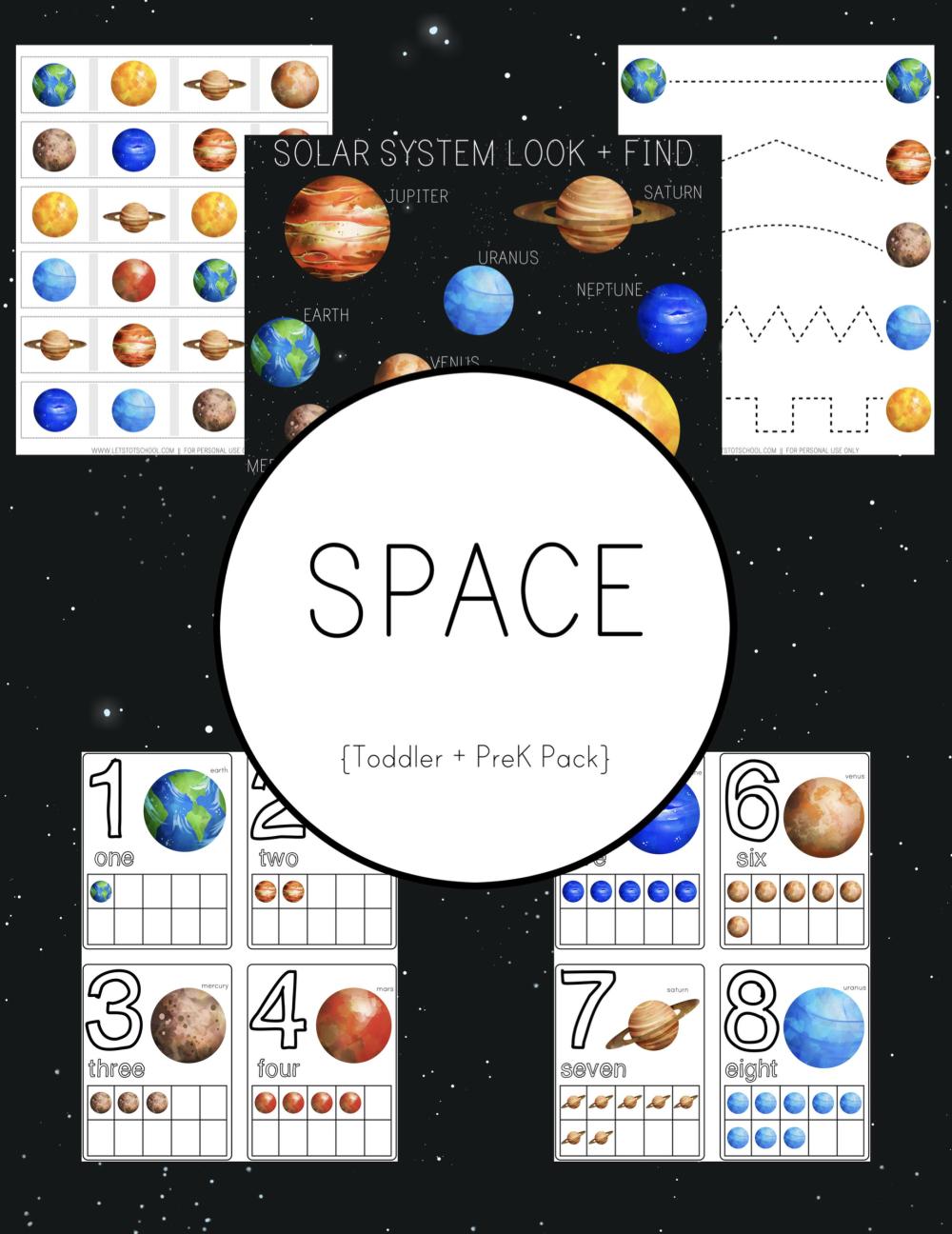 Space Preschool Pack Space Preschool Space Theme Preschool Space Lessons [ 1296 x 1000 Pixel ]