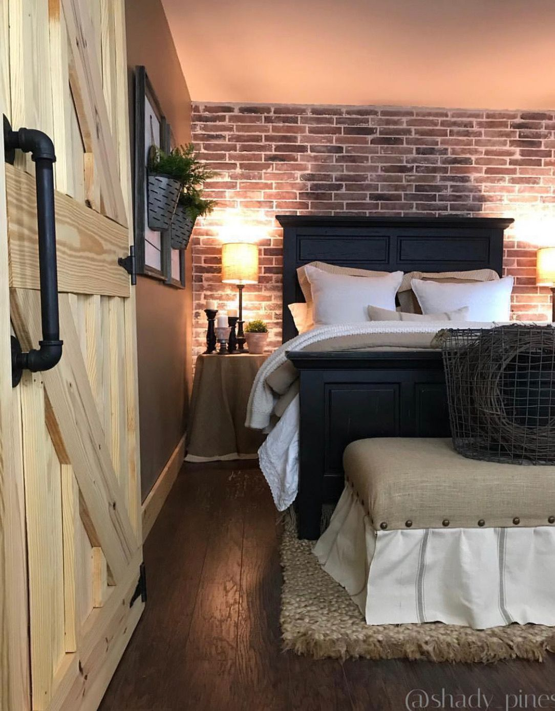 Best Pin By Pam Harper On Beautiful Bedrooms Brick Feature 640 x 480