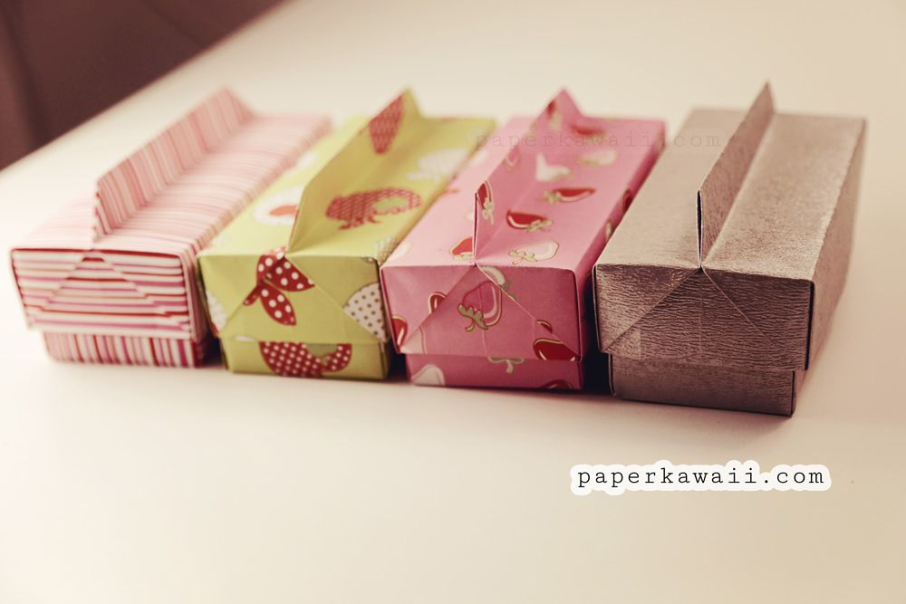 Origami Long Box & Lid with Handle Origami gifts
