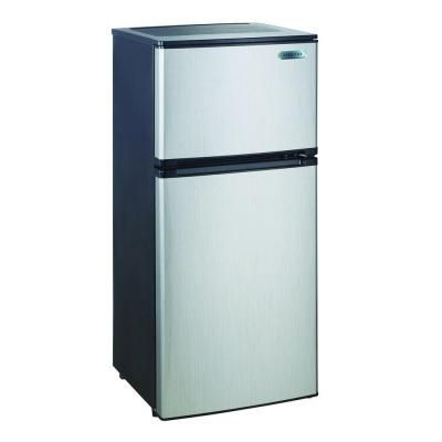 Magic Chef  Cu Ft Mini Refrigerator In Stainless Look - Small freezers at home depot