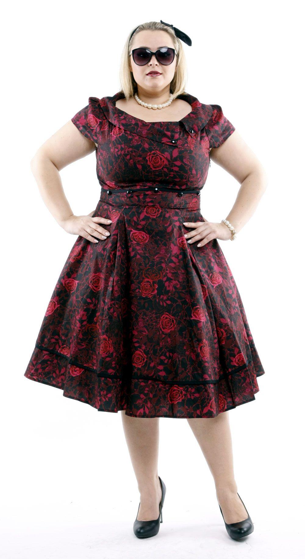 romantikkleid in xxl | rot anziehen, kleider xxl, kleid spitze