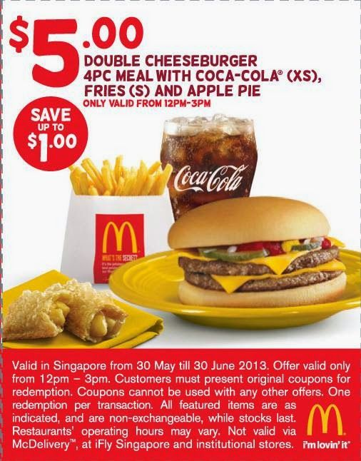 coupon cheeseburger gratuit