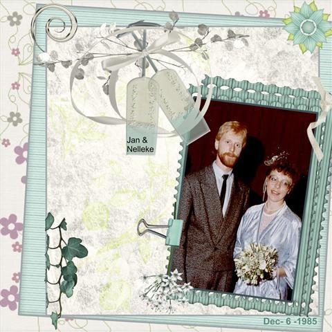 Jan en ik op onze trouwdag op 6 Dec. 1985