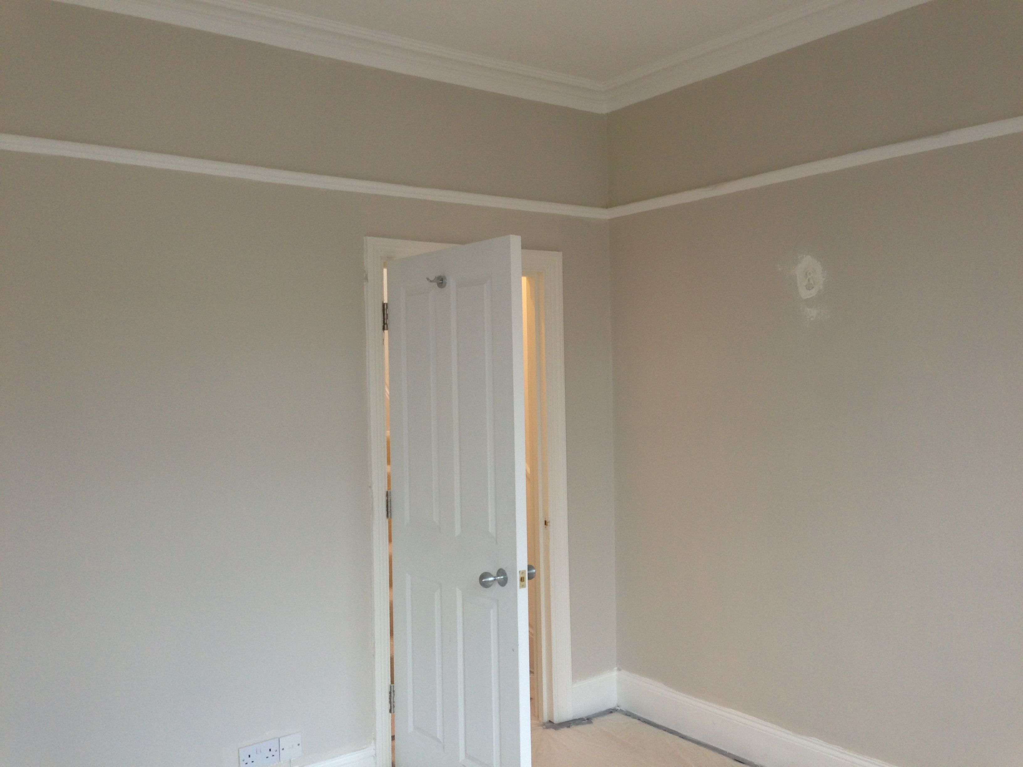 skimming stone farrow and ball came out way too beige and. Black Bedroom Furniture Sets. Home Design Ideas