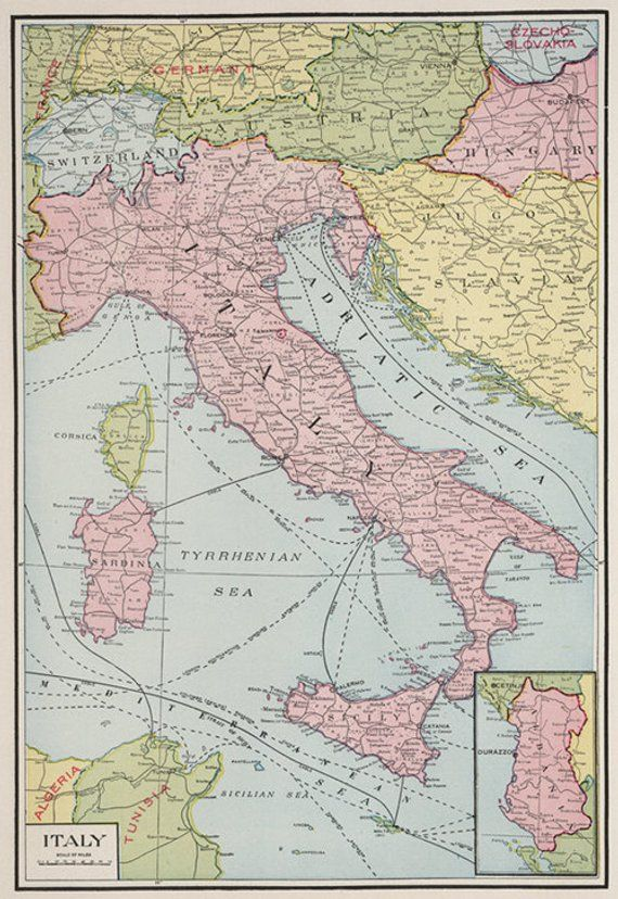 Download Map Of Italy.Antique Italy Digital Map Old Map Of Italy Print Italy