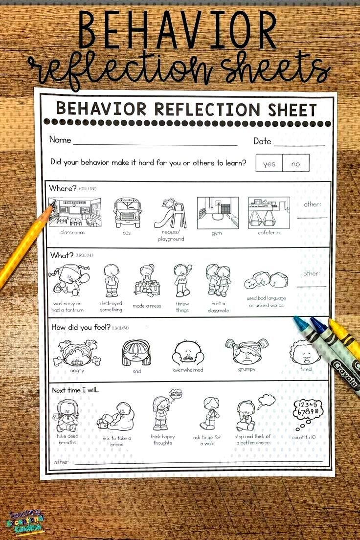Reflection Sheets These behavior reflection sheets are a great way to process behaviors of concern